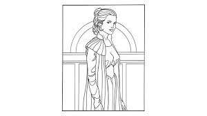 Small Picture StarWarscom Princess Leia Coloring Page Miss S Pinterest
