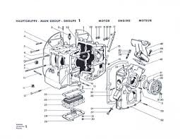 part diagram comparison pet v original factory group i page 1 engine case 356 a factory parts book