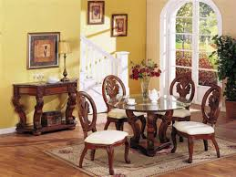 Modern Glass Dining Room Sets Come Home In Decorations - Formal round dining room sets