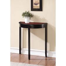 skinny hallway table. Console Table Design, Thin Hallway Tables Best Of Half Round Two Tone Color Glossy Painted Skinny M