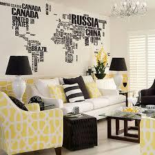 removable world map words mural vinyl