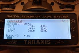 setting up telemetry on frsky taranis d4r ii receiver oscar telemetry screen 2 configuration