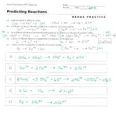 Balancing Redox Reactions Worksheet - Androidcellstores