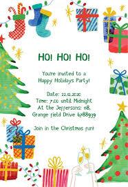 Christmas Program Theme Christmas Party Invitation Templates Free Greetings Island