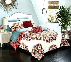 paisley bedding set charming red chic home piece comforter reversible bohemian print ralph lauren r red paisley bedding