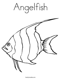Small Picture Angelfish Coloring Page Twisty Noodle