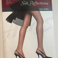 Hanes Thigh Highs Size Chart Hanes Silk Reflections Control Top Pantyhose Nwt