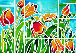 tulips in stained glass 2 janis ilene images