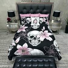skull comforter set king skull comforter set pink lilly skull duvet bedding sets sugar skull comforter