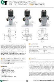Miscelatori termostatici s cheda tecnica pdf