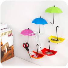 2018 cute umbrella shape wall hook key spectacles hanger coin holder organizer t025 from georgen 21 08 dhgate com