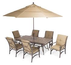 craigslist patio furniture rectangle dining table with umbrella and set of 6 chairs with wheat cushion