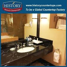 history stone hm08c china nero margiua most popular bullnose prefab four edges polished customised shape bathroom usage solid color marble countertop