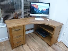 next hartford solid pine 3 drawer corner computer desk