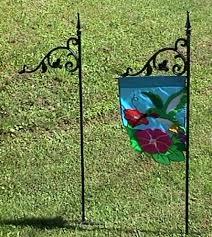 garden flag holders. Metal Garden Flag Holders