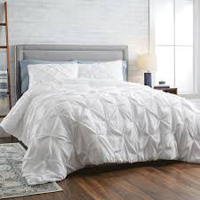 better homes and gardens 3 piece pintuck comforter set cotton full queen taupe