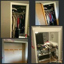 opening closet door i widened my closet opening and added mirrored closet doors the opening was