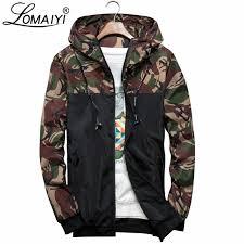 LOMAIYI <b>Men's</b> Hooded Camouflage Jacket <b>Men Spring Autumn</b> ...