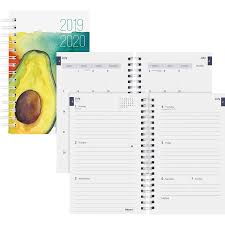 planners weekly monthly blueline weekly monthly academic planner avocado design academic yes yearly 1 1 year july 2019 till july 2020 1 week 1 month double