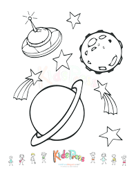 Outer Space Coloring Pages - GetColoringPages.com