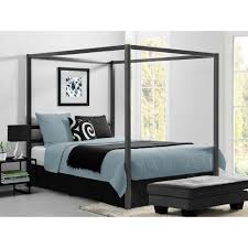 DHP Rory Metal Canopy Grey Queen Size Bed Frame-DE23556 - The Home Depot