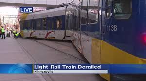 Light Rail Minneapolis Accident Light Rail Train Derails In Downtown Minneapolis