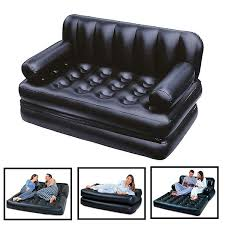 2 in 1 chair air sofa with foot stool