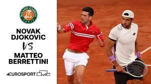 Novak Djokovic vs Matteo Berrettini | 2021 Roland Garros | Quarter-Final |  Tennis