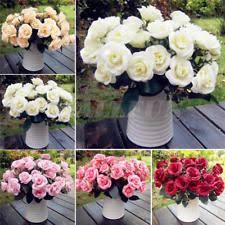 silk flowers wedding bouquet. 12head artificial fake rose silk flower wedding party bridal bouquet home decor flowers