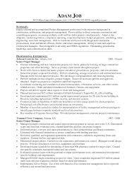 Project Manager Resume Format 20 Jr Sample Best Sample Cv Project