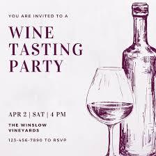 Wine Border Template Customize 166 Wine Tasting Invitation Templates Online Canva