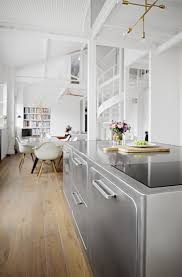Dining Table In Kitchen White Dining Table In The Kitchen With Wood Top The Latest