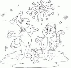Small Picture Coloing Picturs Dogs Cats Coloring Coloring Pages