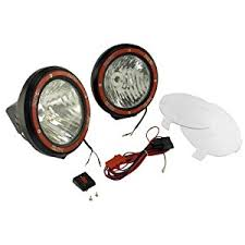 amazon com rugged ridge 15205 53 7 inch black round hid off road Off Road Light Wiring Harness rugged ridge 15205 53 7 inch black round hid off road light with wiring harness pair off road lights wiring harness