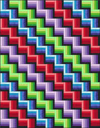 Rail Fence Quilt Pattern Designs / Easy Beginner Quilt Pattern & The placement of light and dark lends a rather 3D effect to the finished  quilt. Adamdwight.com