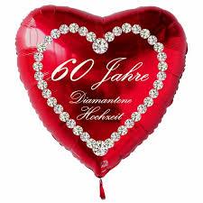 Das schönste geschenk für die jubilare ist eine familienfeier im kreise aller angehörigen. Roter Herzluftballon 60 Jahre Diamantene Hochzeit Folienballon Inklusive Helium