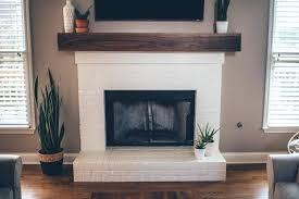 diy mantle corner mantel shelf splendid modern white brick fireplace walnut on the southern trunk