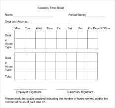 Bi Weekly Time Sheet Free Printable Bi Weekly Time Sheets Rome Fontanacountryinn Com