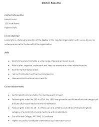 Resume For Doctors Sales Doctor Lewesmr