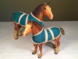 breyer clydesdale horse gift set 8384 mare and foal