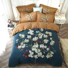 duvet covers queen flower tree tropical leaf bedding set king size cover 100 cotton soft brushed printed hom