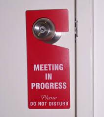 Do Not Disturb Meeting In Progress Sign Door Handle Signs