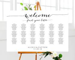 Welcome Wedding Seating Chart Template In Four Sizes 16x20 18x24 20x30 24x36 Wedding Sign Seating Chart Poster Reception Sign
