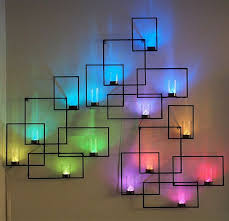 sconce lighting ideas. Charming Sconces Lights Many Different Colors Adorn The White Walls Sconce Lighting Ideas