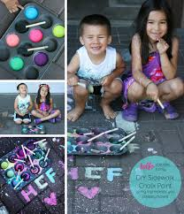 looking for a fun outdoor summer activity with the kids check out this easy diy chalk