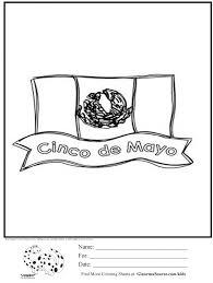 Cinco De Mayo Mexican Flag Coloring Page