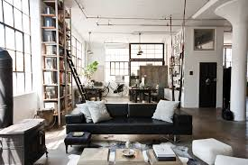 my houzz international meets industrial in a brooklyn loft example of an urban living room design brooklyn industrial office