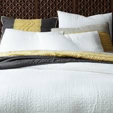 organic braided matelasse duvet cover shams stone white
