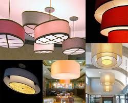 custom drum shade pendants from fire farm