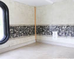 how to remove the wallpaper border in your rv